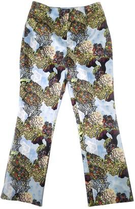 Antipodium Multicolour Silk Trousers for Women