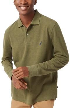 Nautica Men's Long-Sleeve Cotton Polo