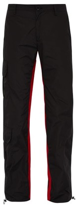Wales Bonner Striped Cargo Trousers - Mens - Black Red