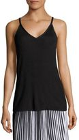 Lafayette 148 New York Radiant Shimmer Rib-Knit Tank Top