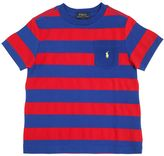 Ralph Lauren Striped Cotton Jersey & Piqué T-Shirt