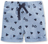 First Impressions Triangle-Printed Cuffed Shorts