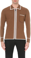 Burberry Prorsum Contrast-detail Knitted Cardigan