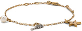 Marc Jacobs Champagne Flute Chain Bracelet in Metallic Gold.