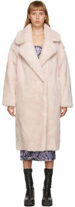 Yves Salomon Meteo Yves Salomon - Meteo Pink Wool Double-Breasted Coat