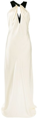 Redemption Long Halter Neck Bias-Cut Dress