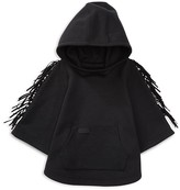 Ralph Lauren Girls' Fringed Ponte Poncho Style Hoodie - Sizes 2-6X