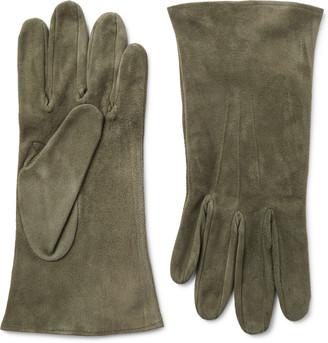 Anderson & Sheppard + Camoshita Suede Gloves