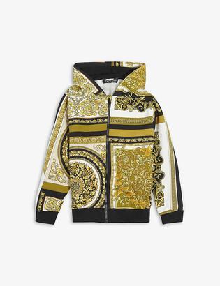 Versace Baroque-print cotton hoody 8-14 years