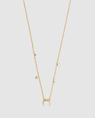 Wanderlust + Co Starlit Gold Sterling Silver Necklace