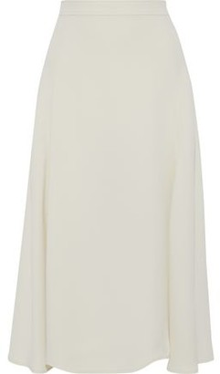 Iris & Ink Bryony Fluted Crepe Midi Skirt