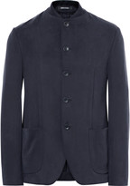 Giorgio Armani Slim-Fit Matte-Satin Jacket