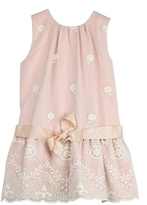 cesar blanco Rose & Lace Dress