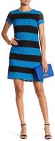 Maggy London Stripe Lace Shift Dress