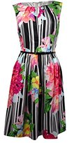 Ellen Tracy Women's Sleeveless Printed Fit and Flare Dress