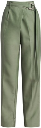 Helmut Lang Wrap Straight Wool-Blend Pants