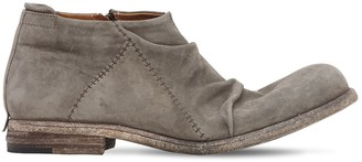 Shoto Zip-Up Washed Suede Patchwork Boots