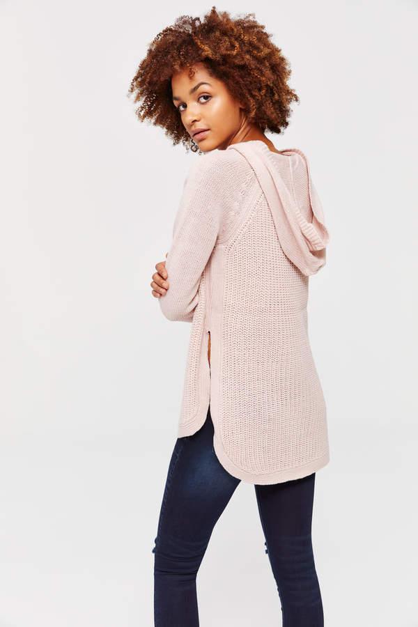 Hooded V-neck Raglan Sweater