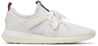 Moncler Meline Mesh And Leather Low-top Trainers - White