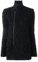 A.F.Vandevorst asymmetric zipper jacket - women - Viscose/Virgin Wool - 40