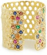 Women's Lara Melchior 'Bague Iii' Diamond & Gemstone Open Ring