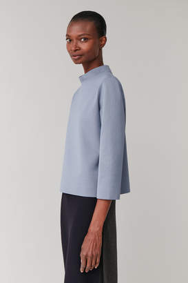 Cos MOCK NECK COTTON TOP