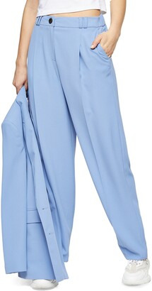 Topshop Peg Pleated Wide Leg Trousers