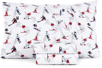 Tommy Hilfiger Skiers Sheet Set, Queen
