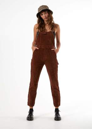 Afends - Holly Long Cord Overalls - 8 / Rich Brown