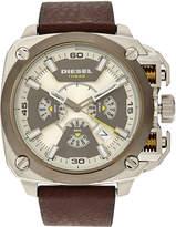 Diesel DZ7343 Silver-Tone & Brown Watch