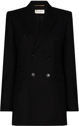 Saint Laurent Double-Breasted Blazer Jacket