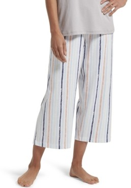 Hue Brushed Stripe Capri