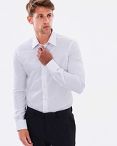 Armani Collezioni Slim Fit Twill Cotton Stretch Shirt
