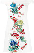 House of Holland off-the-shoulder embroidered dress