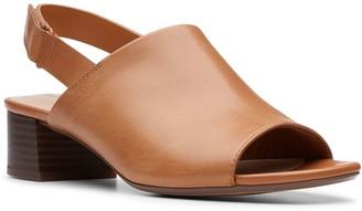 Clarks Elisa Lyndsey Women's Leather Block Heel Sandals