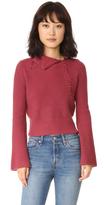 Derek Lam 10 Crosby Foldover Collar Cashmere Sweater