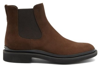 Tod's Rubber-sole Suede Chelsea Boots - Brown
