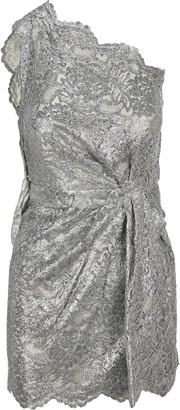 DSQUARED2 Lace Draped One-Shoulder Dress