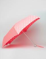 Cath Kidston Minilite Umbrella In Button Polka Dot