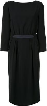 Giorgio Armani Fitted Midi Dress