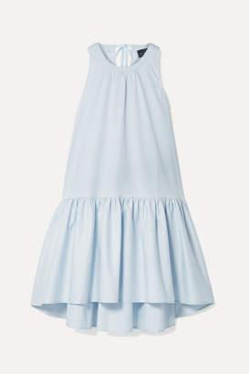 Hatch The Paloma Tiered Cotton-blend Poplin Dress - Sky blue