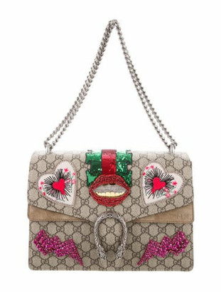 Gucci Embellished Medium Dionysus Bag Tan