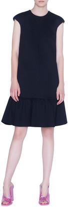 Akris Punto Bonded Jersey Flounce-Hem Dress