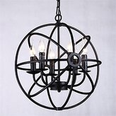 mingming Ceiling Light mingming Pendant Light 6 Lights Country Style Wrought Iron