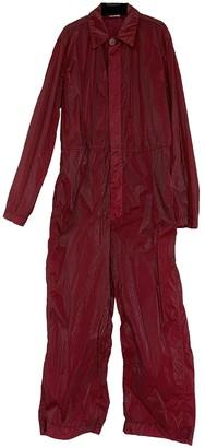 Dries Van Noten Burgundy Synthetic Suits