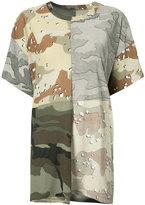 MM6 MAISON MARGIELA camouflage patchwork T-shirt - women - Cotton - S