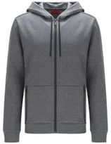 HUGO BOSS Cotton Hooded Sweatshirt Dampton M Grey