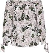 Hallhuber Floral Print Off-The-Shoulder Blouse
