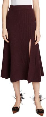 Altuzarra Darrell Cashmere Ribbed Skirt