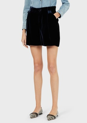 Emporio Armani Velvet Balloon Shorts